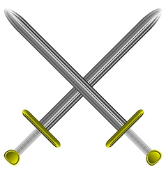 Steel swords on white vector