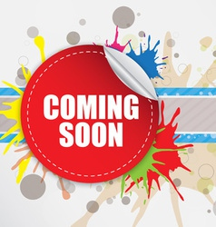Coming soon label design vector