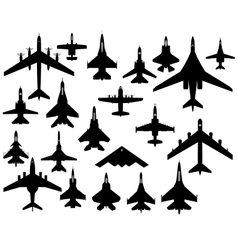 Military aircraft vector