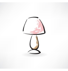 Table-lamp grunge icon vector