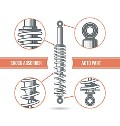 Car shock absorber icon vector