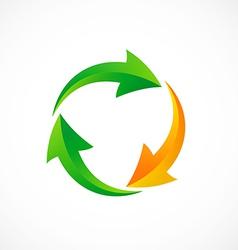 Circle arrow recycle abstract logo vector