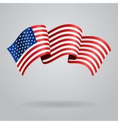 American waving flag vector