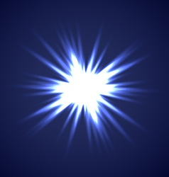 Sun burst on blue background vector