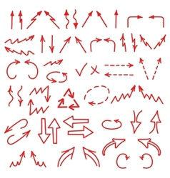 Hand drawn arrows icons set isolated on white vector