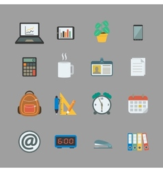 Business collection of office supplies vector