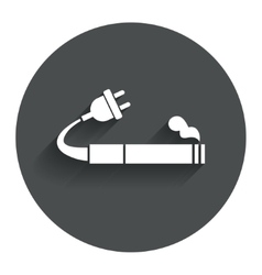 Smoking sign icon e-cigarette symbol vector
