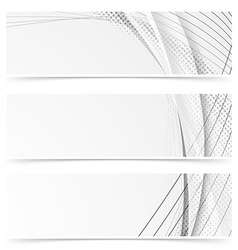Web abstract modern swoosh gray line banners vector