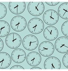 Wall clock seamless vector