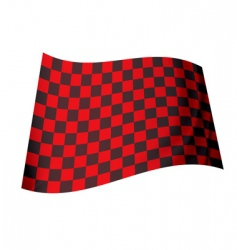 Red checkered flag vector