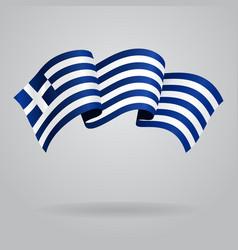 Greek waving flag vector
