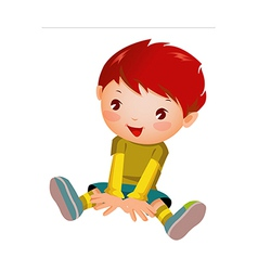 Close-up of boy sitting vector