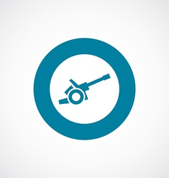 Cannon icon bold blue circle border vector