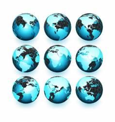 World globes vector