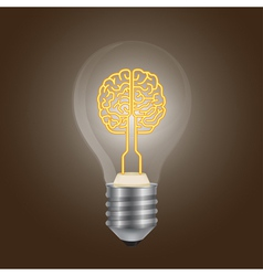 Brain lamp vector