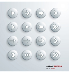 Button arrow sign icon set on click vector