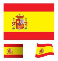 Spain flag set vector