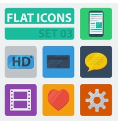 Flat icons set 03 vector