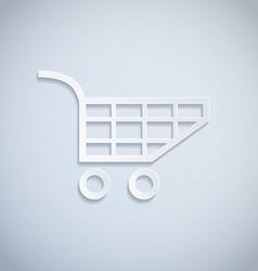 Shopping cart paper vector