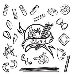 Pasta elements vector