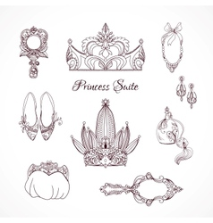 Princess design elements vector