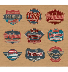 Vintage retro label badges - design element vector