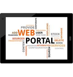 Word cloud web portal vector