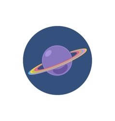 Saturn icon planet icon vector
