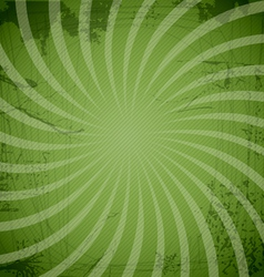 Vintage spiral green background vector