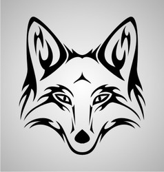 Fox tattoo vector