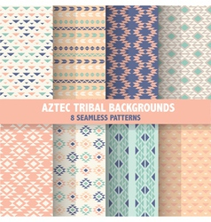 Vintage aztec tribal backgrounds vector