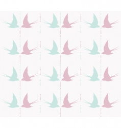 Cute swallow pattern vector