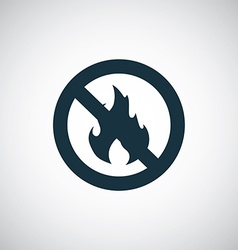 No fire icon vector