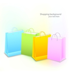 Background with shopping bags vector
