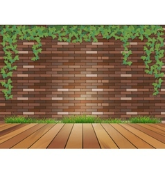 Background brick wall vector