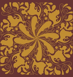 Golden tile vector