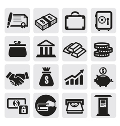 Business financial icons vector