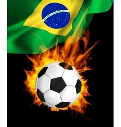 Soccer ball in fire vector