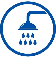 Sign with shower head vector