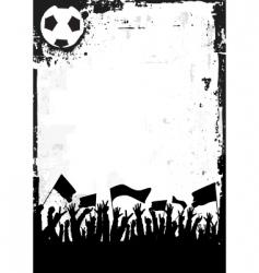 Soccer background vector