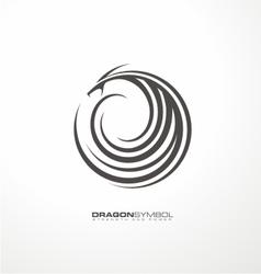 Dragon symbol unique concept vector