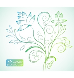 Floral nature background concept vector