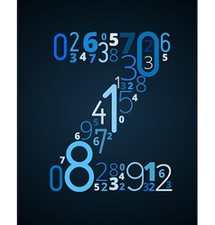 Letter z font from numbers vector