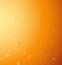 Orange net connection dot abstract background vector