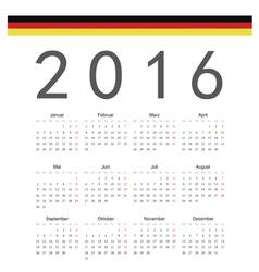 German square calendar 2016 vector