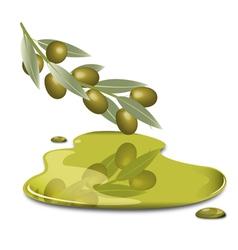 Olive butter vector
