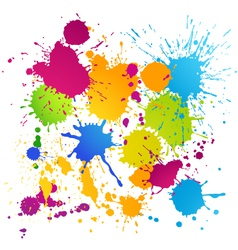 Colorful ink blots vector