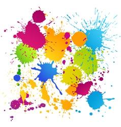 Colorful ink blots vector