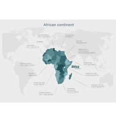 Infographics continent africa green and gray vector
