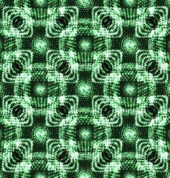 Abstract seamless blue green metallic viking like vector